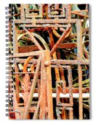 Rusty Railings Square Spiral Notebook