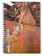 Rusty Steam Tractor Spiral Notebook