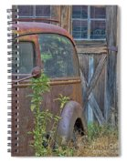 Rusty Vintage Ford Panel Truck Spiral Notebook