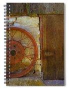 Rusty Wheel Spiral Notebook