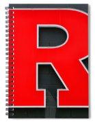 Rutgers Block R Spiral Notebook
