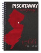 Rutgers University Scarlet Knights Piscataway Nj College Town State Map Poster Series No 092 Spiral Notebook