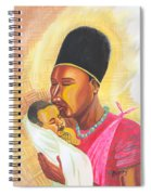 Rwandan Maternal Kiss Spiral Notebook