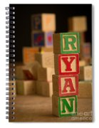 Ryan - Alphabet Blocks Spiral Notebook
