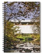 Ryot Covered Bridge And Stream Spiral Notebook