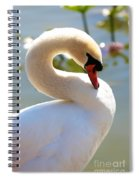S Is For Swan Spiral Notebook