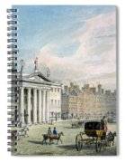 Sackville Street, Dublin, Showing The Post Office And Nelsons Column Spiral Notebook