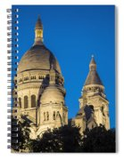 Sacre Coeur - Night View Spiral Notebook
