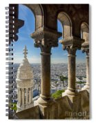 Sacre Coeur View Spiral Notebook