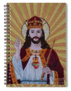 Sacred Heart Of Jesus Hand Embroidery Spiral Notebook
