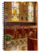 Sacred Space - Our Lady Of Mt. Carmel Church Spiral Notebook