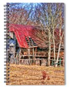 Sad Barn -  Featured In 'old Buildings And Ruins' Spiral Notebook