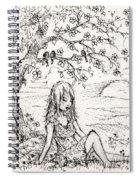 Sad Little Girl Spiral Notebook