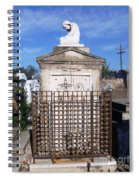 Saddest Statue Tomb Spiral Notebook