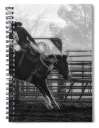 Saddle Bronc Riding Spiral Notebook
