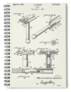 Safety Razor Patent 1937 Spiral Notebook