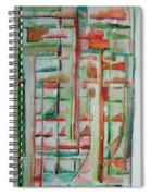 Sage Abstract Spiral Notebook