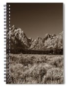 Sagebrush And Tetons Spiral Notebook