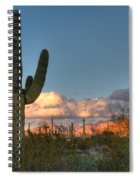 Saguaro At Sunset Spiral Notebook