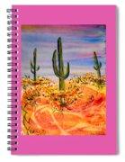 Saguaro Cactus Desert Landscape Spiral Notebook