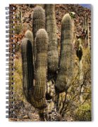 Saguaro Of Many Arms Spiral Notebook