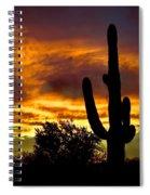 Saguaro Silhouette  Spiral Notebook