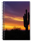 Saguaro Sunset II  Spiral Notebook