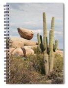 Saguaros And Big Rocks Spiral Notebook