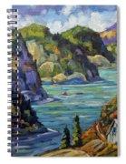 Saguenay Fjord By Prankearts Spiral Notebook