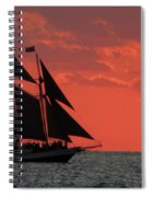 Key West Sunset Sail 5 Spiral Notebook