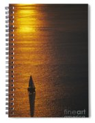 Sail Boat On Puget Sound Spiral Notebook