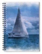 Sail Boat Photo Art 01 Spiral Notebook