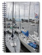 Sail Boats Docked For The Night Spiral Notebook