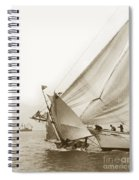Sail Boats Little Anne And Virginia Collision On San Francisco Bay Circa 1886 Spiral Notebook