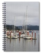 Sail Boats Waiting For Their Captains Spiral Notebook