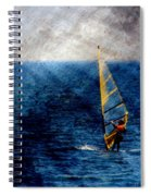 Sailboarding W Metal Spiral Notebook