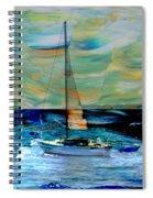 Sailboat And Abstract Spiral Notebook