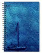 Sailboat As A Painting Spiral Notebook