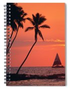 Sailboat At Sunset Spiral Notebook