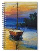 Sailboat At Sunset Spiral Notebook
