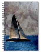 Sailboat Bird W Metal Spiral Notebook