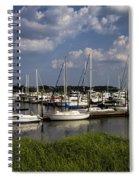 Sailboat Harbor At St. Simon's Island Spiral Notebook