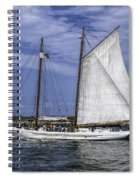 Sailboat In Cape May Channel Spiral Notebook
