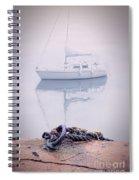 Sailboat In Fog Spiral Notebook