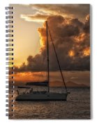 Sailboat In Sunset Spiral Notebook