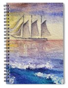 Sailboat In The Ocean Spiral Notebook
