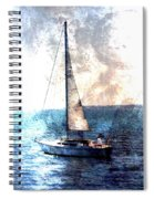 Sailboat Light W Metal Spiral Notebook