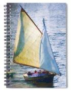 Sailboat Off Marthas Vineyard Massachusetts Spiral Notebook