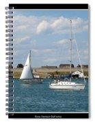 Sailboat On Lake Ontario Near Old Fort Niagara 2 Spiral Notebook