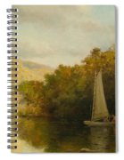 Sailboat On River Spiral Notebook